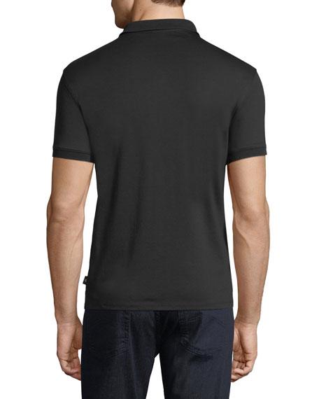 Basic Textured Polo Shirt