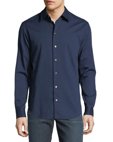 Image 1 of 1: Basic Woven Cotton Sport Shirt
