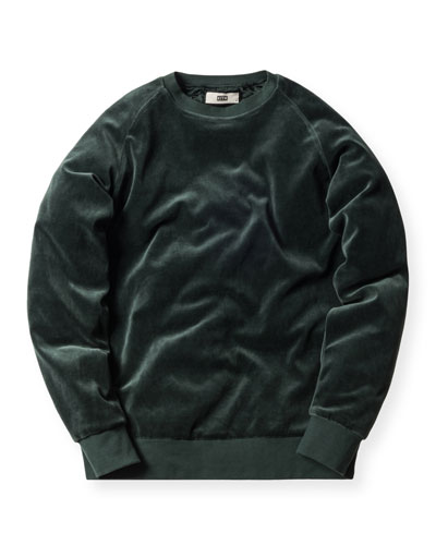 Williams Velour Crewneck Sweatshirt, Forest