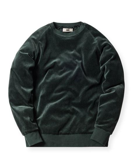 Williams Velour Crewneck Sweatshirt, Forest