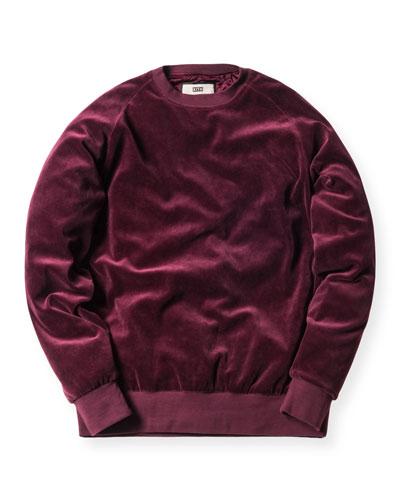 Williams Velour Crewneck Sweatshirt, Burgundy