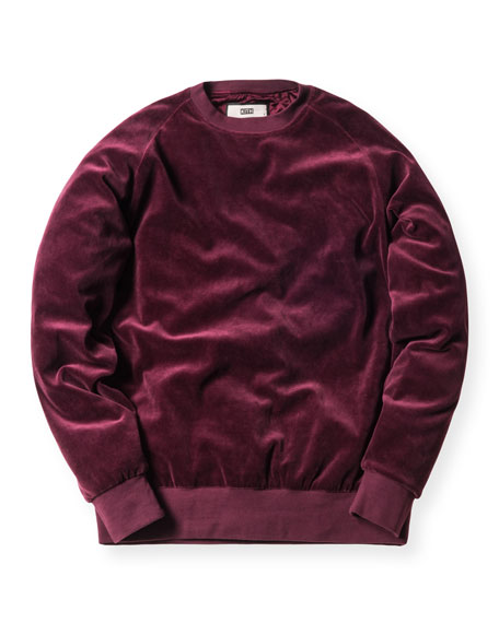 Williams Velour Crewneck Sweatshirt, Burgundy