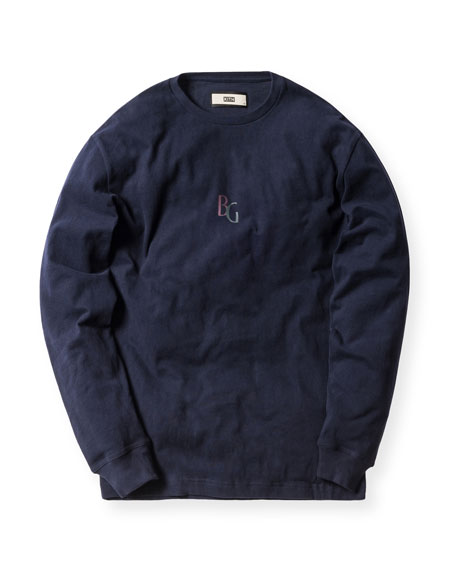 Long-Sleeve Tee, Navy