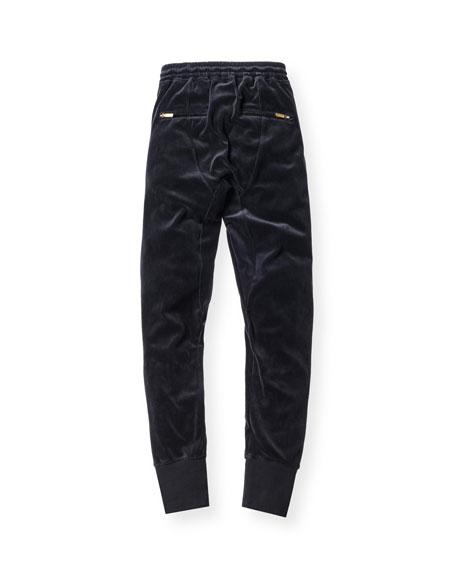 Bleecker Velour Pants, Navy