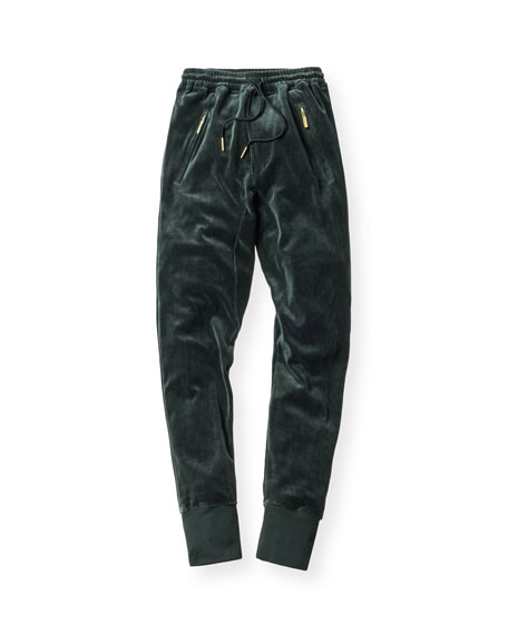 Bleecker Velour Pants, Forest