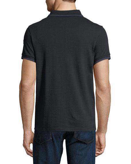 0693fef17e Moncler Contrast-Tipped Logo Polo Shirt
