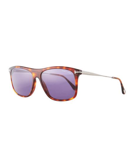 Max Rectangular Sunglasses, Brown
