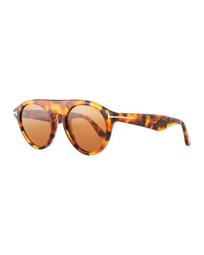 Christopher Round Acetate Sunglasses