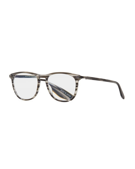 Lautner Striped Acetate Reading Glasses-2.5