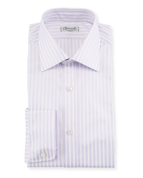 Image 1 of 1: Striped Dress Shirt, Lavender