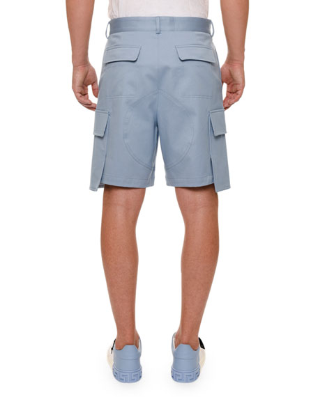 Oversized-Pocket Cargo Shorts