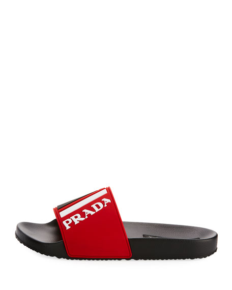 Men's Logo Rubber Slide Sandal