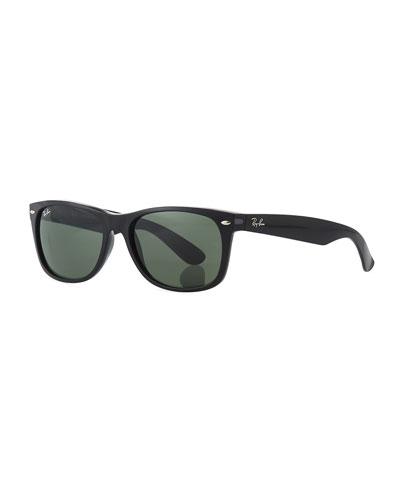 Men's New Wayfarer 58mm Flat-Top Plastic Sunglasses