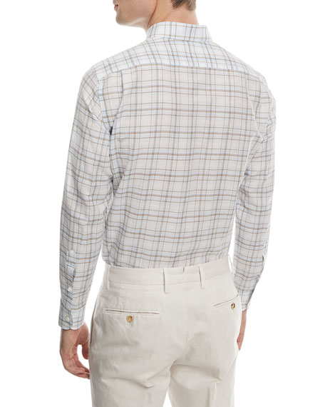 Checked Linen Sport Shirt