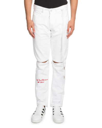Embroidered Graphic Slim Jeans