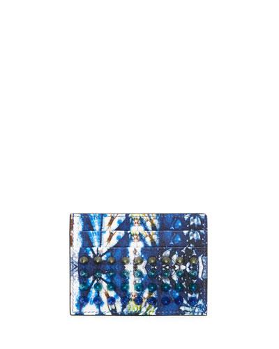 Kios Tie-Dye Studded Card Case