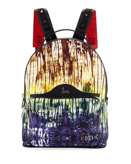 Backloubi Painted Canvas Backpack