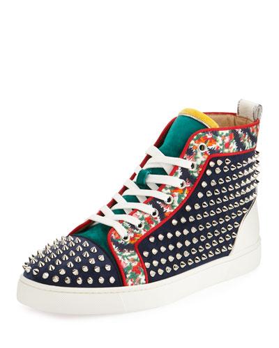 Louis Orlato Studded High-Top Sneaker