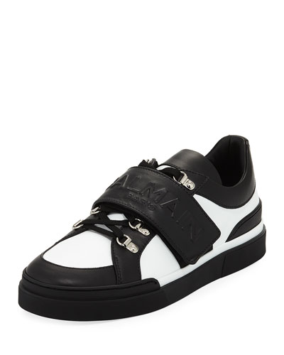 Tricolor Low-Top Leather Sneaker