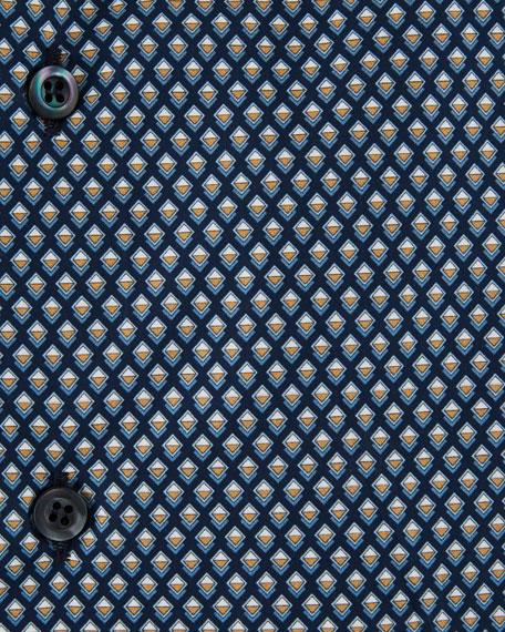 Mini Diamond Poplin Dress Shirt