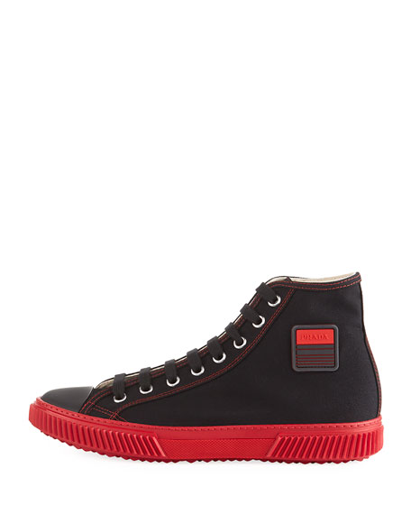 Men's Canapa Canvas High-Top Sneakers