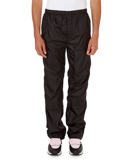 Solid Nylon Jogging Pants