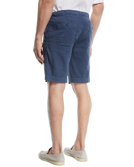 Linen-Blend Bermuda Shorts