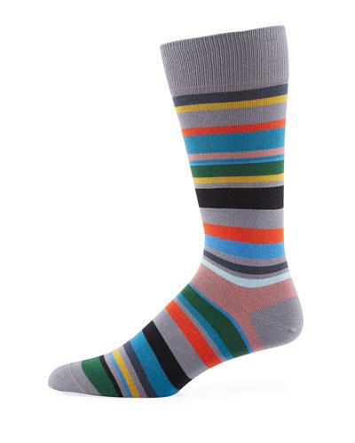 Bolog Striped Cotton-Blend Socks
