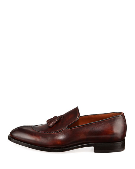 Magnifico Burnished Leather Loafer