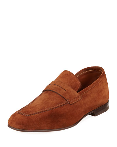 Foster Textured Leather Flex Loafer