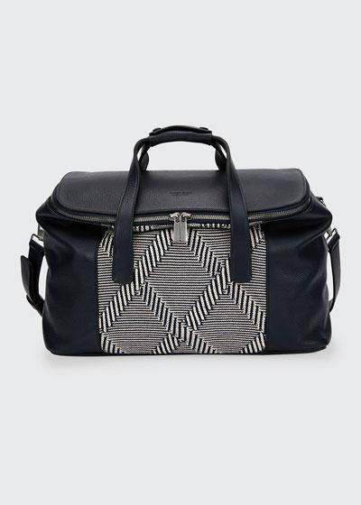 Leather & Knit Weekender Bag