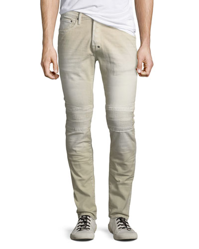 Cotton Twill Moto Pants
