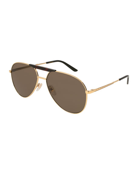 Gucci Men's Aviator Sunglasses