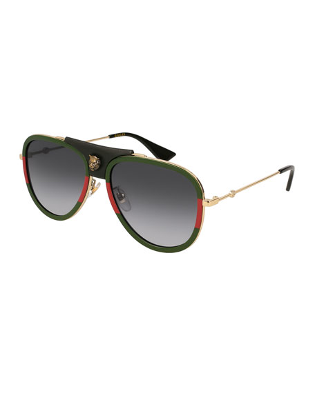 Enamel Metal Aviator Sunglasses