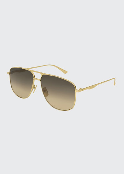 Metal Pilot Sunglasses, Gold