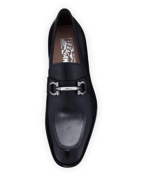 Men's Benford Gancini-Bit Leather Loafer