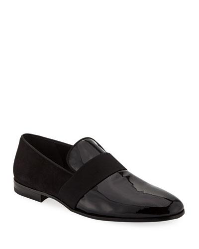 Men s Bryden Patent Leather   Suede Slip-On Dress Loafer Shoe d0e1bd8ceef