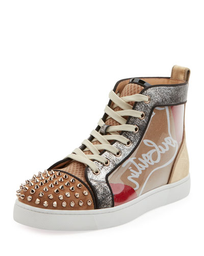 Men's Louis Spikes High-Top Sneakers