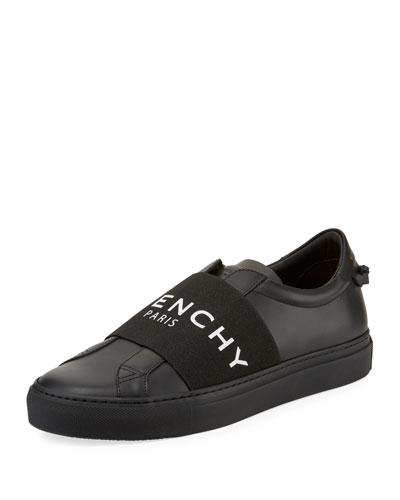 Men's Urban Street Elastic Slip-On Sneakers, Black