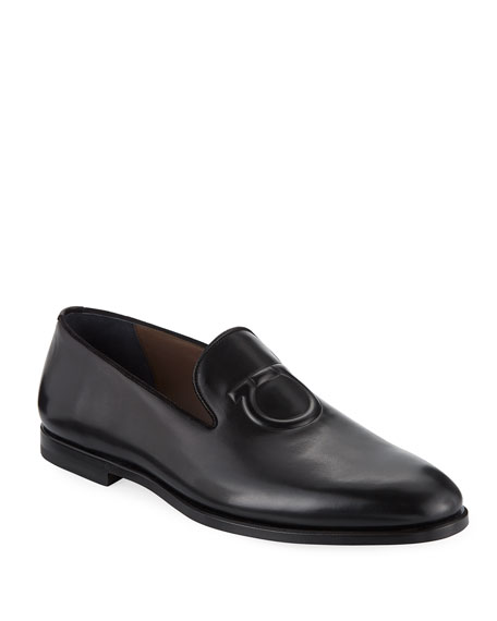 Salvatore Ferragamo Men's Bruxelles Gancini-Embossed Leather Loafer