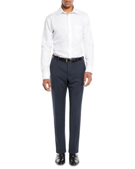 Men's Sergio Slim Stretch Techno-Wool Trousers