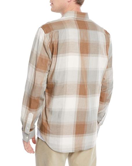 Men's Vintage Wool/Cashmere Plaid Sport Shirt
