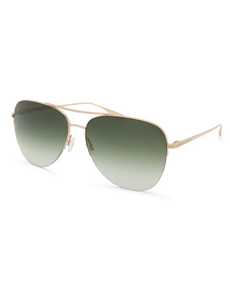 Barton Perreira Men's Chevalier Julep Aviator Sunglasses