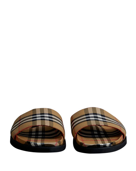 4456fdc57 Burberry Men s Ashmore Check Slide Sandal