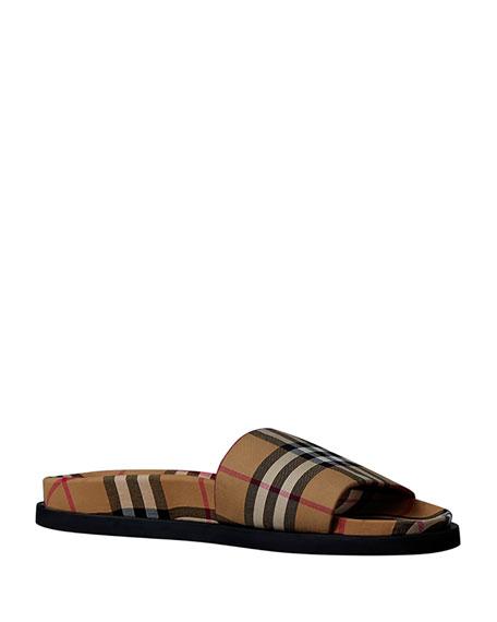 8546cc58da0158 Burberry Men s Ashmore Check Slide Sandal