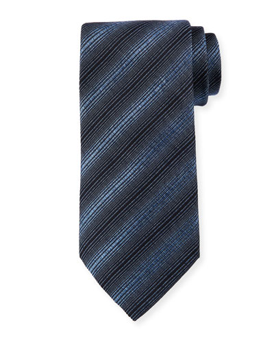 Diagonal Stripes Silk/Wool Tie