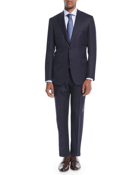 Men's Tonal Stripe Wool-Silk Two-Piece Suit