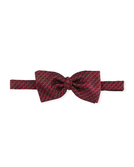 3D Box Silk Tie, Red
