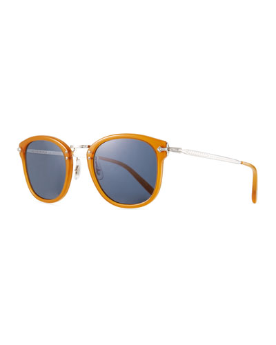 Men's OP-506 Acetate/Metal Sunglasses, Amber