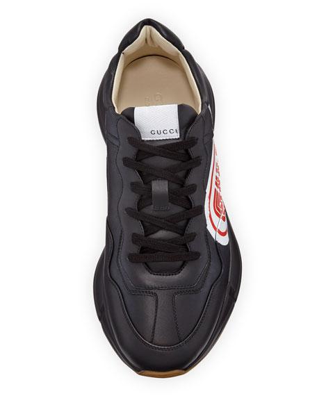 f48d24aa9ab Gucci Rhyton Gucci Print Leather Sneaker